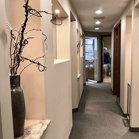 image of a hall way in a doctor office