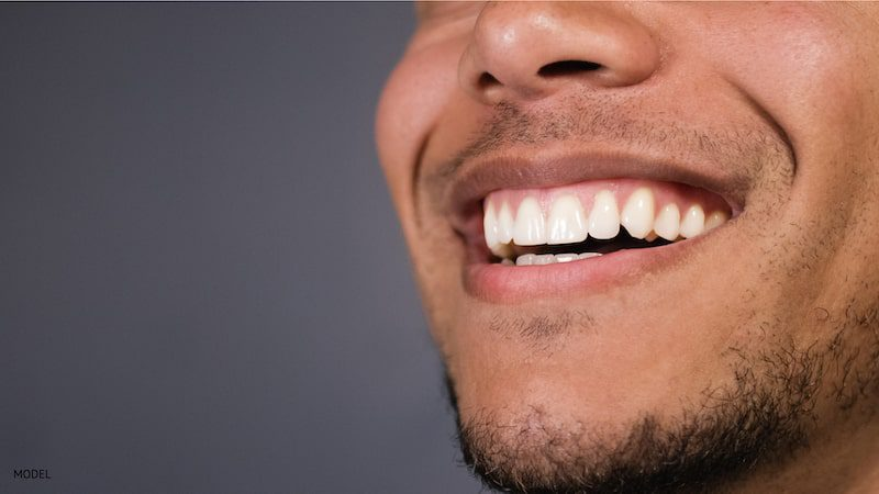 smiling man with healthy gums